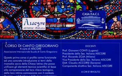 Corso di Canto Gregoriano